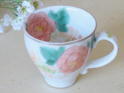 帯広通販夢雑貨MOMO・もも・モモ 松本陶器ゆずりは花さやかマグカップ1-1
