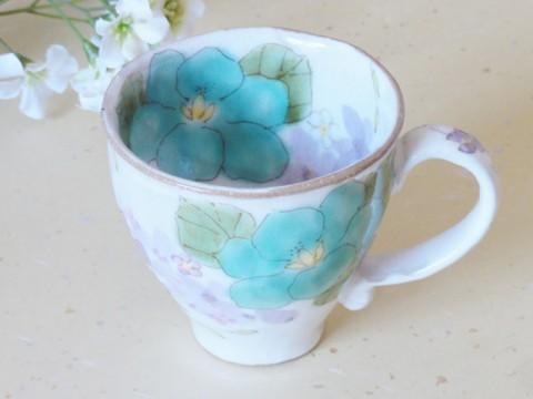 帯広通販夢雑貨MOMO・もも・モモ 松本陶器ゆずりは花さやかマグカップ2-1