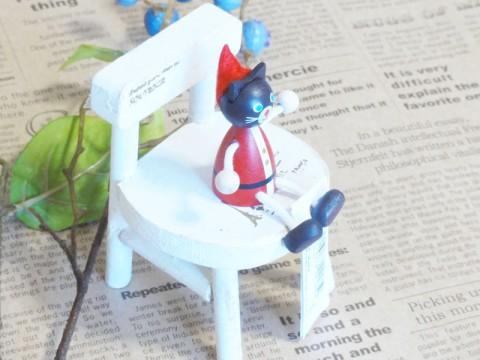 帯広通販夢雑貨MOMO・もも・モモ レスニー人形クリスマスサンタネコ3