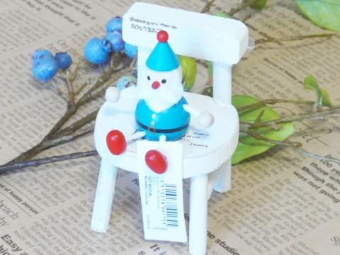 帯広通販夢雑貨MOMO・もも・モモ レスニー人形クリスマスサンタブルー1
