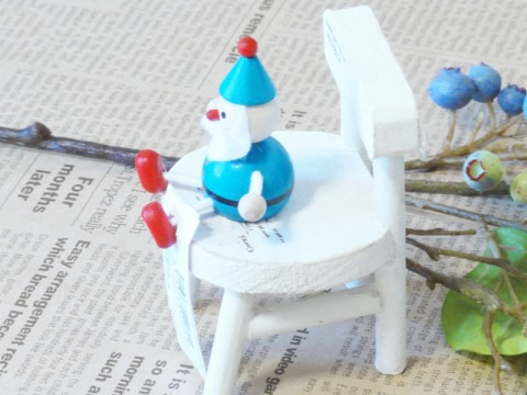 帯広通販夢雑貨MOMO・もも・モモ レスニー人形クリスマスサンタブルー2