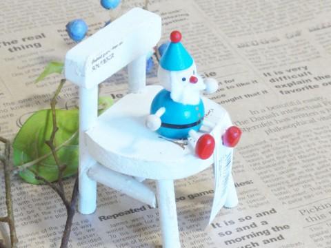 帯広通販夢雑貨MOMO・もも・モモ レスニー人形クリスマスサンタブルー3