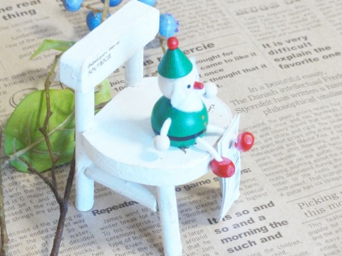 帯広通販夢雑貨MOMO・もも・モモ レスニー人形クリスマスサンタグリーン3