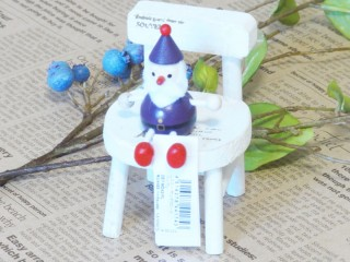 帯広通販夢雑貨MOMO・もも・モモ レスニー人形クリスマスサンタパープル1