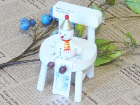 帯広通販夢雑貨MOMO・もも・モモ レスニー人形クリスマススノーマンゴールド1