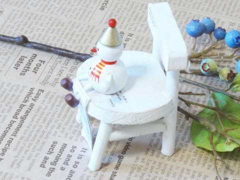帯広通販夢雑貨MOMO・もも・モモ レスニー人形クリスマススノーマンゴールド2