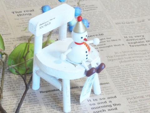 帯広通販夢雑貨MOMO・もも・モモ レスニー人形クリスマススノーマンゴールド3
