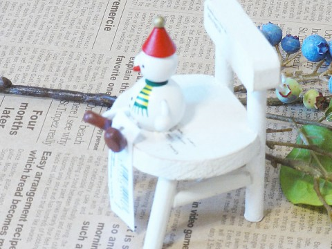 帯広通販夢雑貨MOMO・もも・モモ レスニー人形クリスマススノーマンレッド2
