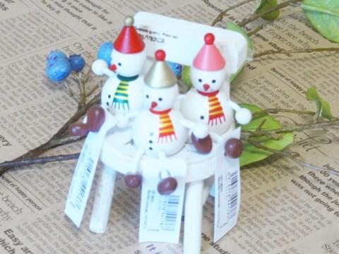 帯広通販夢雑貨MOMO・もも・モモ レスニー人形クリスマススノーマン集合1