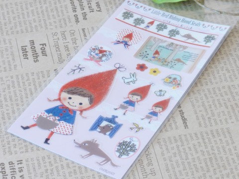 帯広通販夢雑貨MOMO・もも・モモ Shinzi Katoh 赤ずきん シール2
