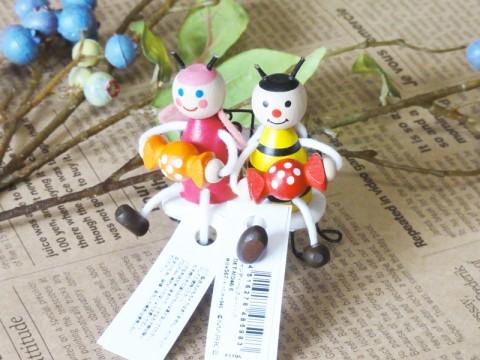 帯広通販夢雑貨MOMO・もも・モモ キャンディレスニー人形ハチとチョウチョ