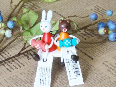 帯広通販夢雑貨MOMO・もも・モモ キャンディレスニー人形ウサギとクマ